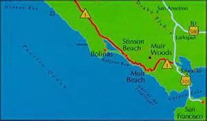 map of muir woods california muir woods location california monument california