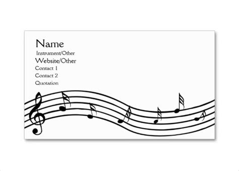 Musical Note Card Template 12 musical note templates free sle exle eps