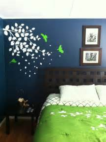dark blue bedroom with bright green accent wedding ideas pinterest wall accents bright