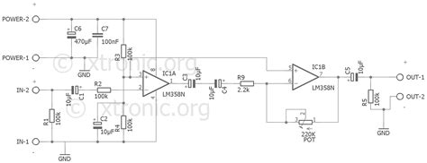 integrated lifier schematic pre circuit audio prelifier ic lm358 dual op xtronic