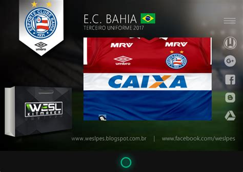 sindivigilantes bahia 2016 2017 e c bahia terceiro uniforme 2017 pes creators br