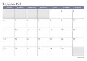 Togo Calendario 2018 September 2017 Printable Calendar Icalendars Net
