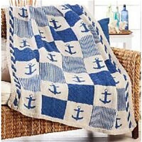nautical blanket knitting pattern ravelry nautical patchwork blanket pattern by herrschners