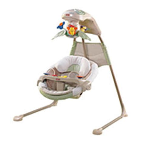 fisher price baby swing reviews fisher price nature s touch baby papasan cradle swing
