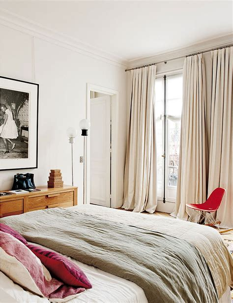 modern bedroom curtains decorating parisian style chic modern apartment by sandra