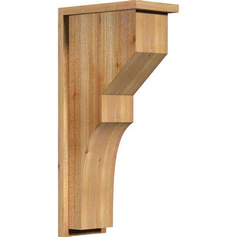 Cedar Corbel ekena millwork 8 in x 14 in x 30 in monterey sawn western cedar corbel with