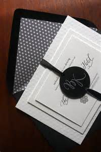 brock s modern black and white wedding invitations