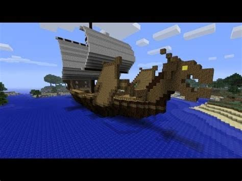 how to make a viking boat in minecraft minecraft showcase dragon viking ship youtube