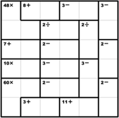 kenken puzzle official site free math puzzles that make