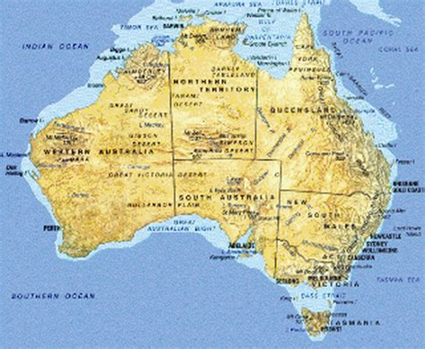 geographical map australia geography you and australia