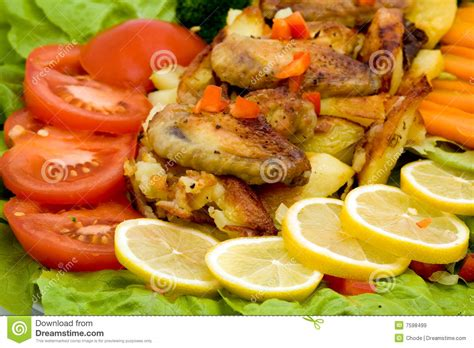 fancy vegetables for dinner fancy meal royalty free stock images image 7598499