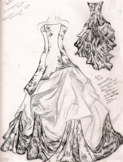 fashion design dress sketches wedding dress sketch by familiarshadow on deviantart