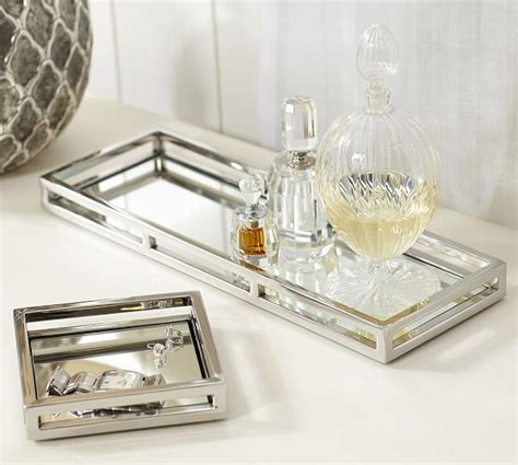 mirrored bathroom tray great for vanity or night table mirrored trays pottery barn organize bedrooms pinterest