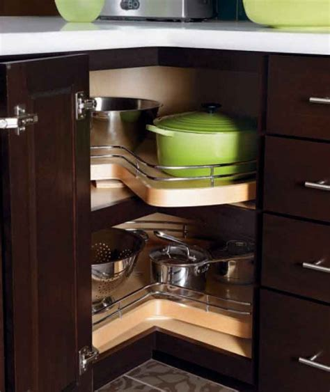 corner cabinet solutions in kitchens creative kitchen storage solutions mosaik blog