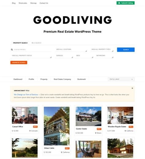 wordpress search layout 15 best 15 more of the best real estate wordpress themes