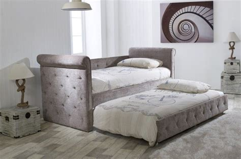 Day Bed Headboards by Limelight Beds Zodiac Mink Fabric Single Day Bed With Trundle