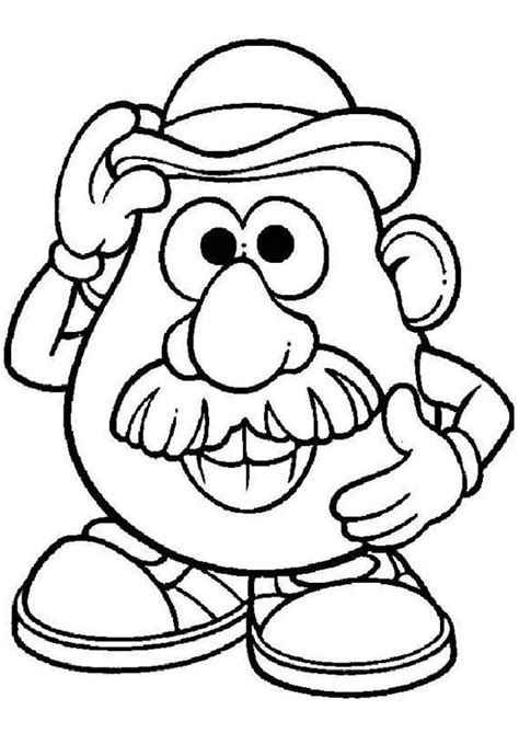 mr potato head coloring page coloring home