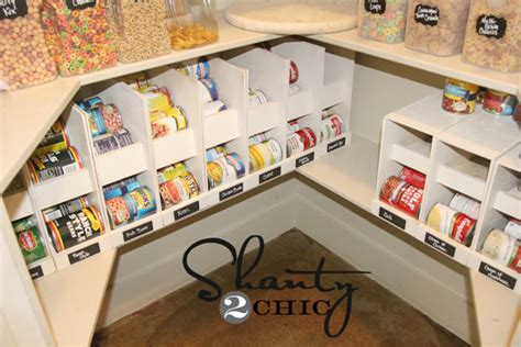 pantry ideas diy canned food storage shanty  chic