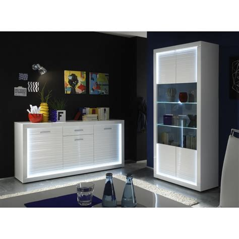 iluminati i wide gloss display cabinet with led lights
