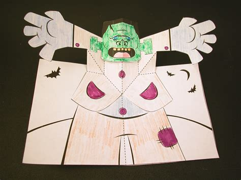 robert sabuda pop up card templates how to make a frankenstein pop up card robert sabuda method