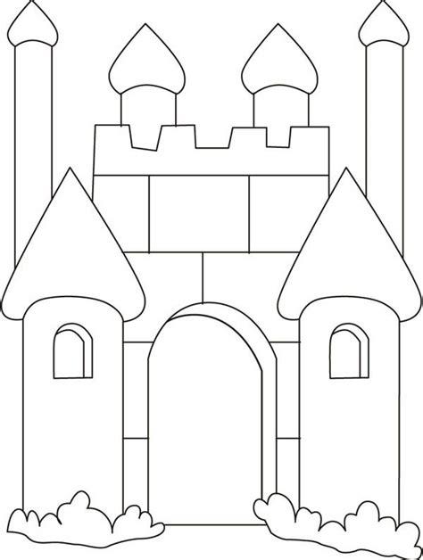 castle outline coloring page the 25 best disney castle outline ideas on pinterest