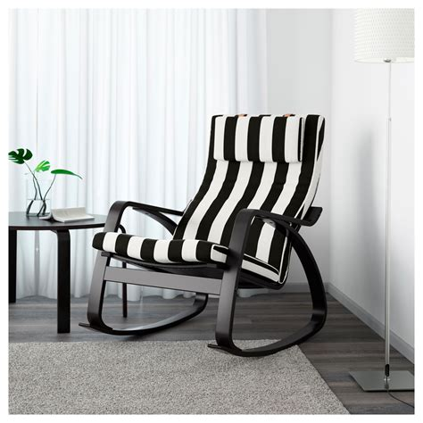 Black And White Rocking Chair by Po 196 Ng Rocking Chair Black Brown Stenli Black White Ikea