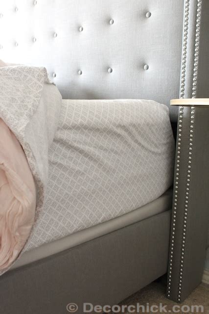 our new upholstered bed and the event is live decorchick