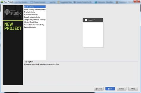 yii blank layout getting started with android studio