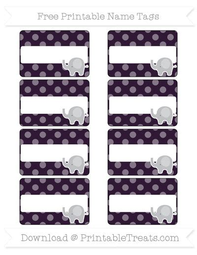 pattern for name tags free dark purple dotted pattern elephant name tags