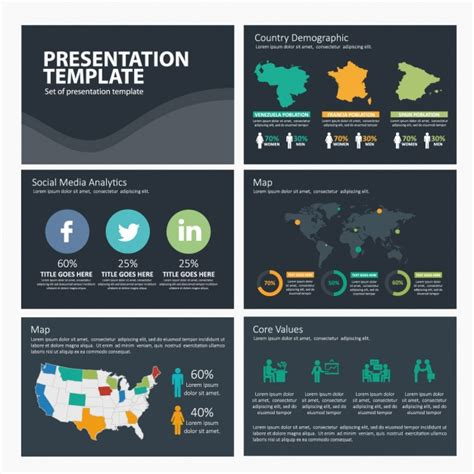 Free Social Media Template Social Media Infographic Template Vector Free