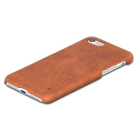 Promo Leather Iphone 8 iphone 7 lederh 252 lle leder ledertasche braun kanvasa quot one quot luxus echtleder backcover f 252 r