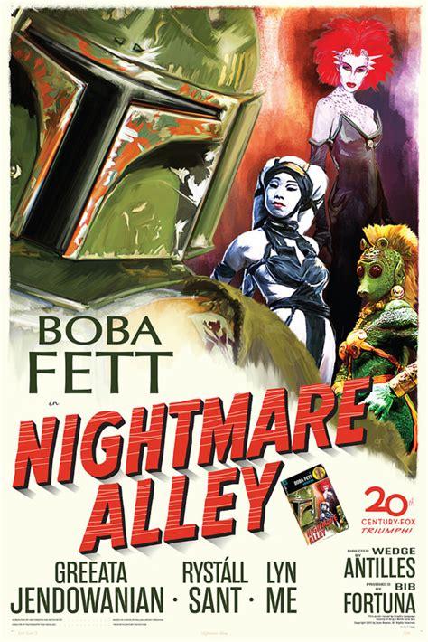 items similar to fett noir series 1 nightmare alley 12x18