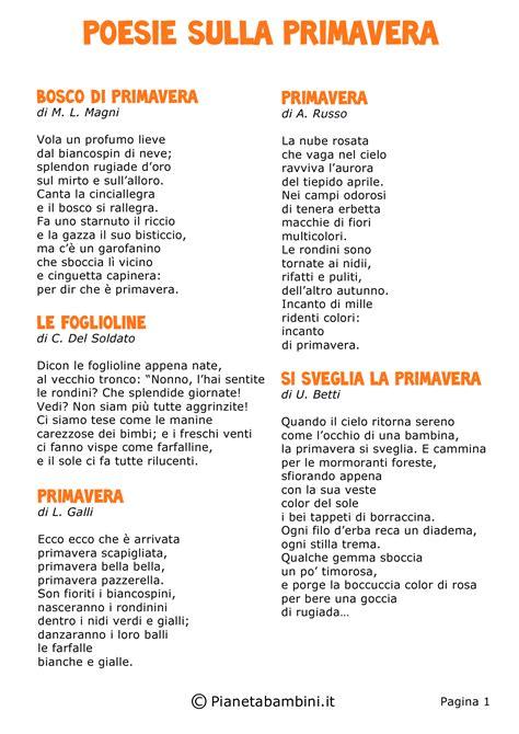 testo d estate 5 poesie sulla primavera scuola primaria mamme magazine