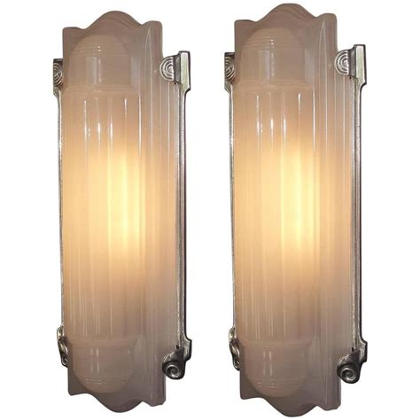 Deco Sconce Large Deco Wall Sconces Home Theater At 1stdibs