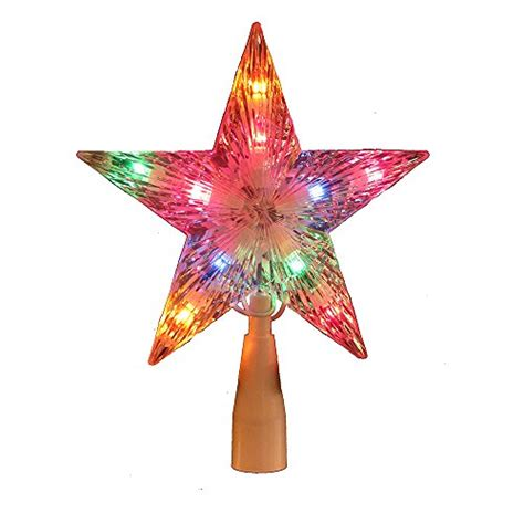 multi colored star tree topper kurt adler multi colored treetop import it all