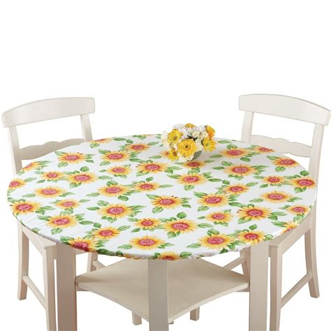 fitted tablecloths for oval tables fitted elastic table cover sunflower round