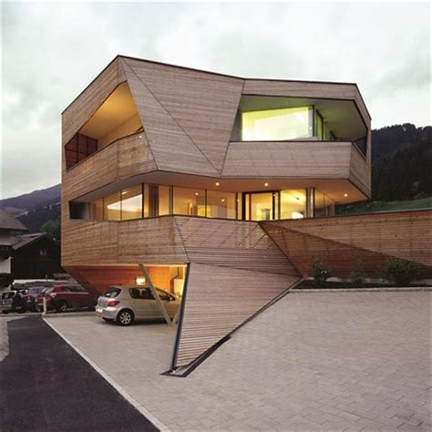 cube design house modern cube house in the dolomite mountains freshnist
