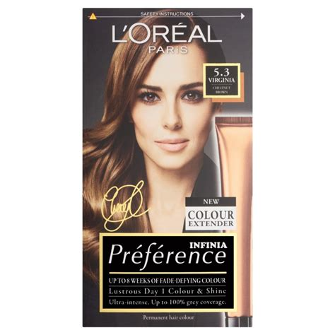 loreal preference hair color l oreal preference hair colour 5 3 virginia chestnut