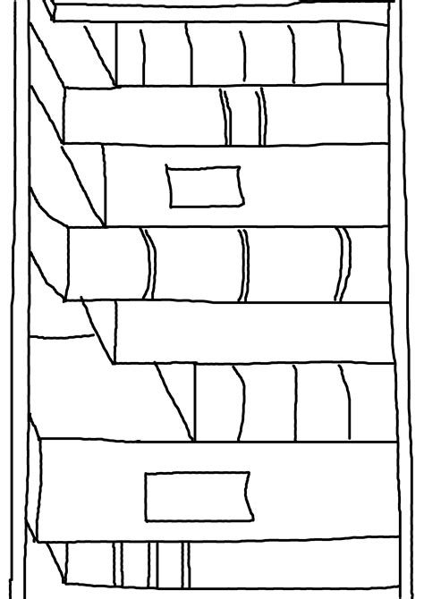 coloring pages bookshelves shelves coloring pages