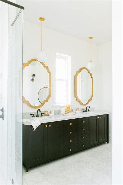 gold mirror bathroom black bathroom vanity with gold mirror contemporary