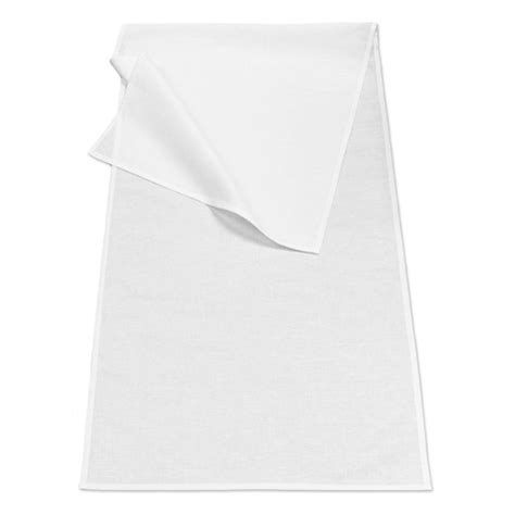 White Linen Cotton Table Runner 48x140cm The Clever Baggers