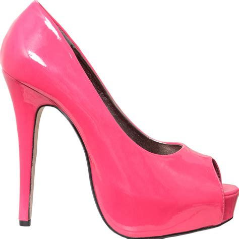 pink patent high heels new womens pink patent peeptoe high heel shoe size 3 8