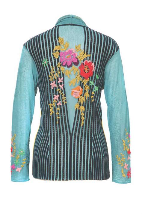 Embroidery Cardigan cardigan embroidery floral sweater vest