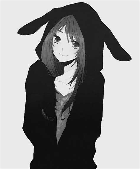 Legenda Yato monochrome chicas anime kawaii hoodies black and white and