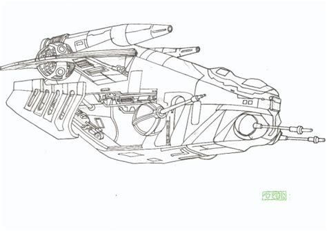 star wars gun ship coloring pages