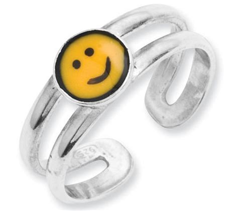 Say It With A Smiley With Emoticon Jewellery by Sterling Smiley Toe Ring Qvc