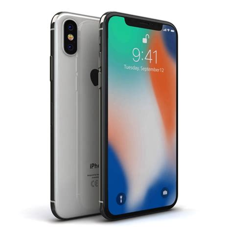 3 Iphone X Models by 3d Model Apple Iphone X Silver Turbosquid 1223877