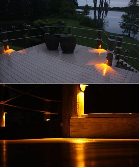solar lights for docks solar piling lights for docks and decks
