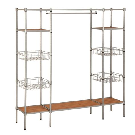 Freestanding Closet Organizer Honey Can Do 68 In X 16 5 In Freestanding Closet