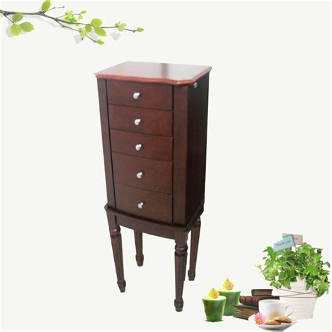 Cherry Finish Armoire by China 2 Door Jewelry Armoires Cherry Finish Ja13503